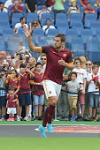 Kevin Strootman of AS Roma before the preseason friendly match between AS Roma and Sevilla FC at Olimpico Stadium on August 14 2015 in Rome Italy