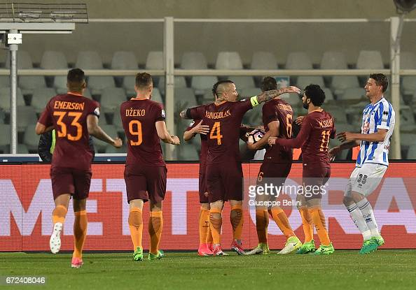 Pescara Calcio v AS Roma - Serie A : News Photo