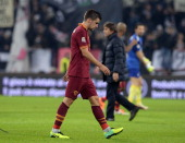 Kevin Strootman of AS Roma dejected at the end of the Serie A match between Juventus and AS Roma at Juventus Arena on January 5 2014 in Turin Italy