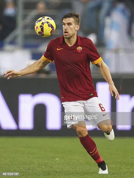 Kevin Strootman of AS Roma during the Serie A match between AS Roma and Lazio Roma on January 112014 at the Stadio Olimpico in Rome Italy