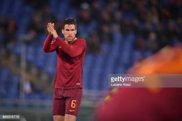 Kevin Strootman of AS Roma during the Serie A match between AS Roma and US Sassuolo at Stadio Olimpico on March 19 2017 in Rome Italy