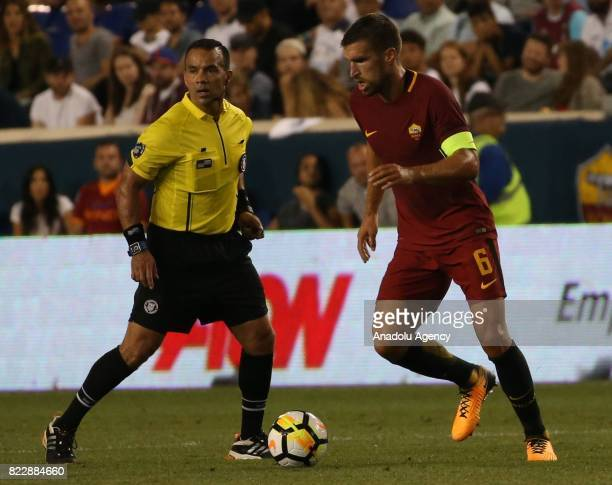Kevin Strootman of AS Roma in action during a friendly match between AS Roma and Tottenham within International Champions Cup 2017 at Redbull Arena...