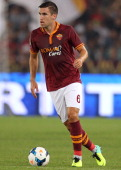 Kevin Strootman of AS Roma in action during the Serie A match between AS Roma and Bologna FC at the Stadio Olimpico on September 29 2013 in Rome Italy