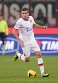 Kevin Strootman of AS Roma in action during the Serie A match between AC Milan and AS Roma at San Siro Stadium on December 16 2013 in Milan Italy