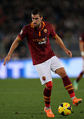 Kevin Strootman of AS Roma in action during the Serie A match between AS Roma and AS Livorno Calcio at Stadio Olimpico on January 18 2014 in Rome...