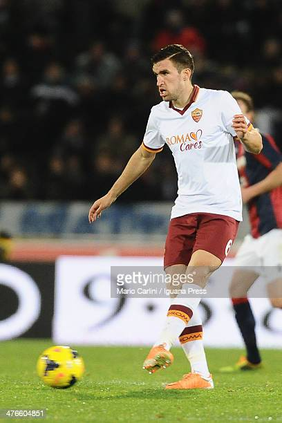 Kevin Strootman of AS Roma in action during the Serie A match between Bologna FC and AS Roma at Stadio Renato Dall'Ara on February 23 2014 in Bologna...
