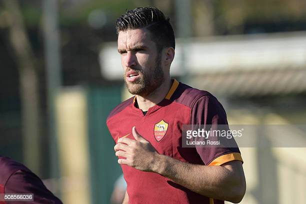 Kevin Strootman of AS Roma in action during the Serie A match between AS Roma and US Avellino on February 5 2016 in Rome Italy