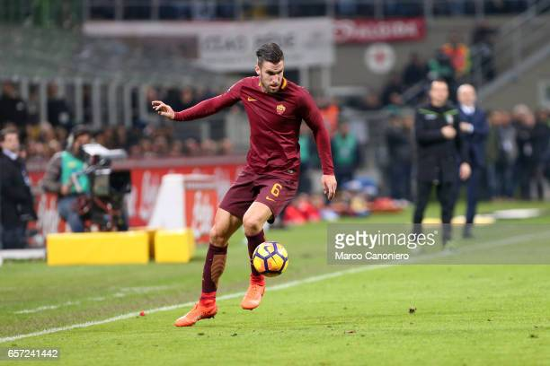Kevin Strootman of As Roma in action during the Serie A match between FC Internazionale and AS Roma at Stadio Giuseppe Meazza AS Roma wins 31 over FC...