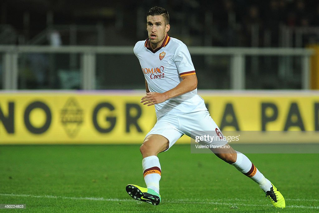 <a gi-track='captionPersonalityLinkClicked' href=/galleries/search?phrase=Kevin+Strootman&family=editorial&specificpeople=5566501 ng-click='$event.stopPropagation()'>Kevin Strootman</a> of AS Roma looks on during the Serie A match between Torino FC and AS Roma at Stadio Olimpico di Torino on November 3, 2013 in Turin, Italy.