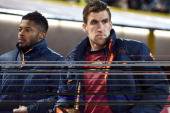 Kevin Strootman of AS Roma looks on prior the beginning of the Serie A match between Bologna FC and AS Roma at Stadio Renato Dall'Ara on February 23...