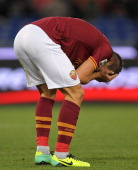 Kevin Strootman of AS Roma shows his dejection during the Serie A match AS Roma and Cagliari Calcio at Stadio Olimpico on November 25 2013 in Rome...
