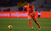 Kevin Strootman of Netherlands runs with the ball during the International Friendly match between Netherlands and Colombia at Amsterdam ArenA on...