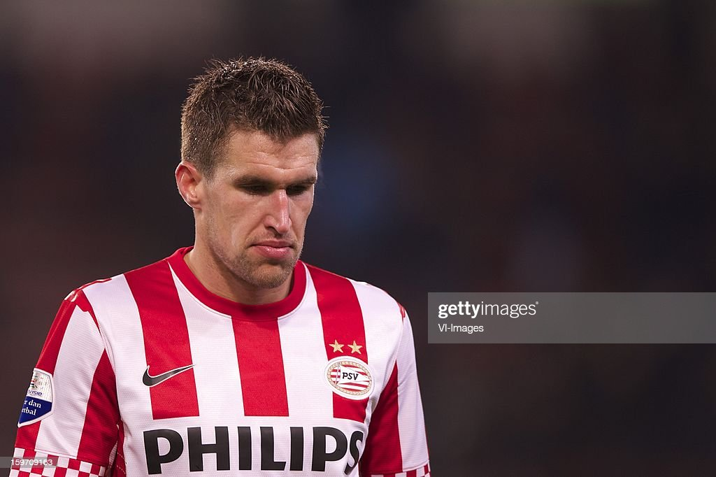 Kevin Strootman of PSV during the Dutch Eredivise match between PSV and PEC Zwolle at the Philips Stadium on January 18, 2013 in Eindhoven, The Netherlands.
