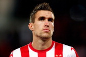 Kevin Strootman of PSV looks on prior to the UEFA Europa League Group F match between PSV Eindhoven and SSC Napoli at the Philips Stadion on October...