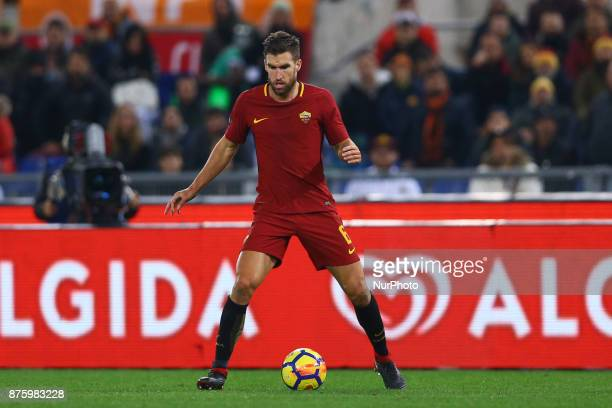 Kevin Strootman of Roma during the Italian Serie A football match AS Roma vs Lazio on November 18 2017 at the Olympic stadium in Rome