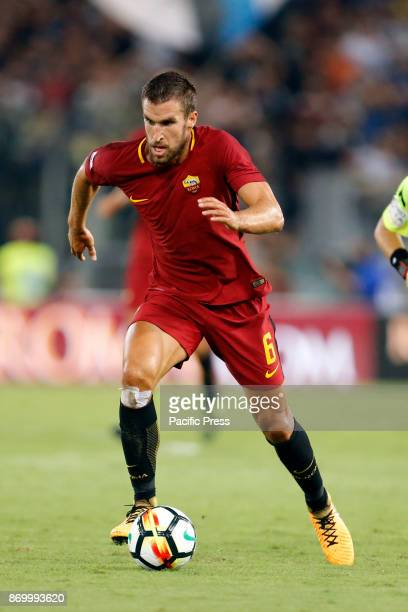 Kevin Strootman of Roma during the Italian Serie A soccer match against Inter in Rome Inter defeating Roma 31