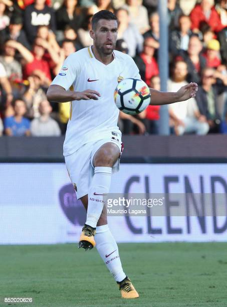 Kevin Strootman of Roma during the Serie A match between Benevento Calcio and AS Roma at Stadio Ciro Vigorito on September 20 2017 in Benevento Italy