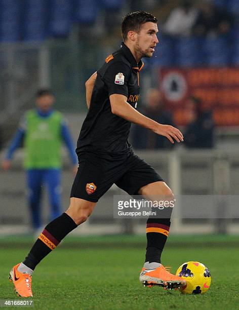 Kevin Strootman of Roma in action during the TIM Cup match between AS Roma and UC Sampdoria at Olimpico Stadium on January 9 2014 in Rome Italy