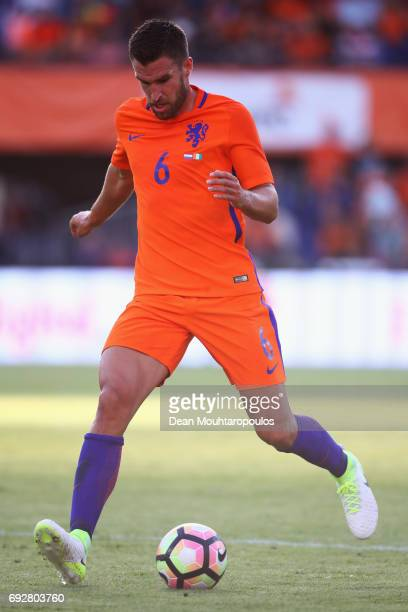 Kevin Strootman of the Netherlands in action during the International Friendly match between the Netherlands and Ivory Coast held at De Kuip or...