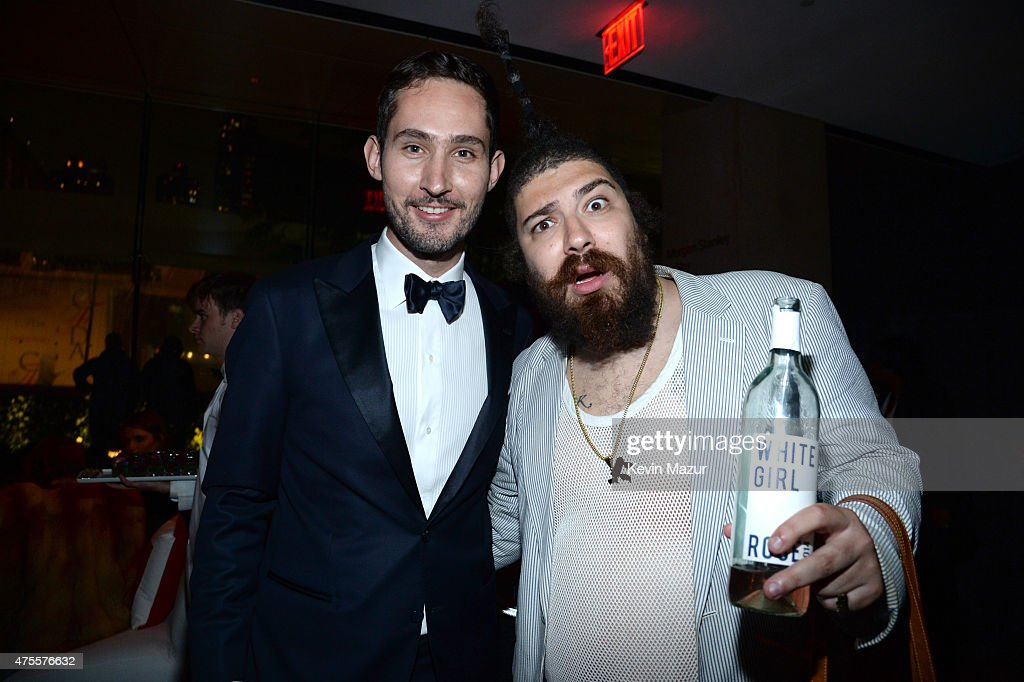 Kevin Systrom and Josh Ostrovsky attend the 2015 CFDA Fashion Awards at Alice Tully Hall at Lincoln Center on June 1, 2015 in New York City.