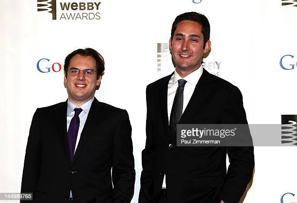 Kevin Systrom and Mike Krieger attend the 16th Annual Webby Awards at Hammerstein Ballroom on May 21 2012 in New York City