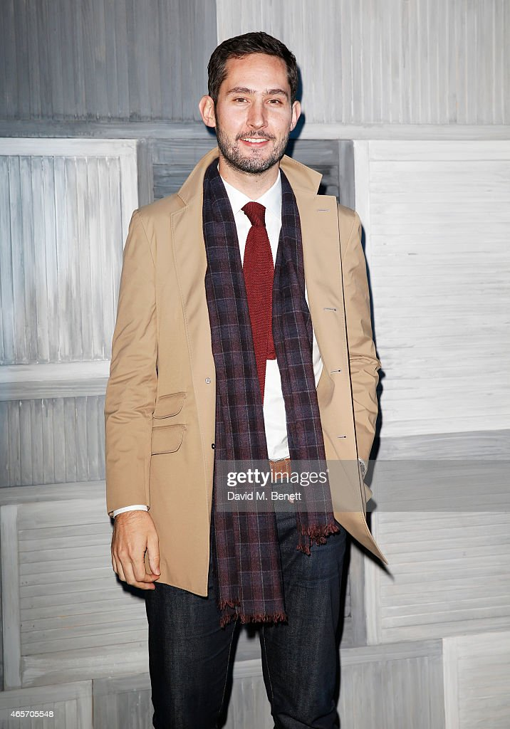 <a gi-track='captionPersonalityLinkClicked' href=/galleries/search?phrase=Kevin+Systrom&family=editorial&specificpeople=7804585 ng-click='$event.stopPropagation()'>Kevin Systrom</a> arrives at a party hosted by Instagram's <a gi-track='captionPersonalityLinkClicked' href=/galleries/search?phrase=Kevin+Systrom&family=editorial&specificpeople=7804585 ng-click='$event.stopPropagation()'>Kevin Systrom</a> and Jamie Oliver. This is their second annual private party, taking place at Barbecoa on March 9, 2015 in London, England.