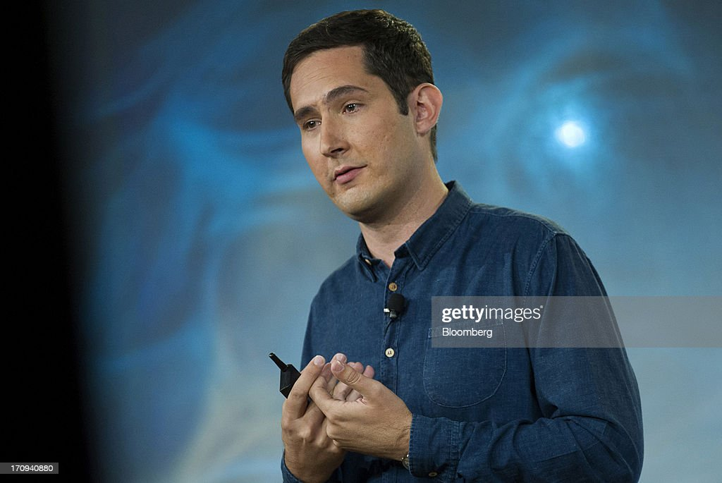 <a gi-track='captionPersonalityLinkClicked' href=/galleries/search?phrase=Kevin+Systrom&family=editorial&specificpeople=7804585 ng-click='$event.stopPropagation()'>Kevin Systrom</a>, chief executive officer and co-founder of Instagram Inc., speaks during an event at Facebook Inc. headquarters in Menlo Park, California, U.S., on Thursday, June 20, 2013. Facebook Inc., operator of the largest social network, plans to unveil video-sharing tools, bringing its Instagram into closer competition with Twitter Inc., a person with knowledge of the matter said. Photographer: David Paul Morris/Bloomberg via Getty Images