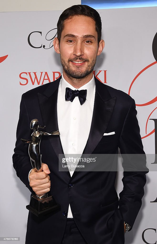 <a gi-track='captionPersonalityLinkClicked' href=/galleries/search?phrase=Kevin+Systrom&family=editorial&specificpeople=7804585 ng-click='$event.stopPropagation()'>Kevin Systrom</a> poses on the winners walk at the 2015 CFDA Fashion Awards at Alice Tully Hall at Lincoln Center on June 1, 2015 in New York City.