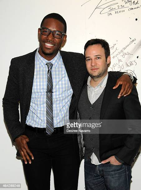 Kevin Thompson 'Mr Moviefone' poses with actor/cocreator and producer of 'Empire'Danny Strong during AOL Build Speaker Series Danny Strong at AOL...
