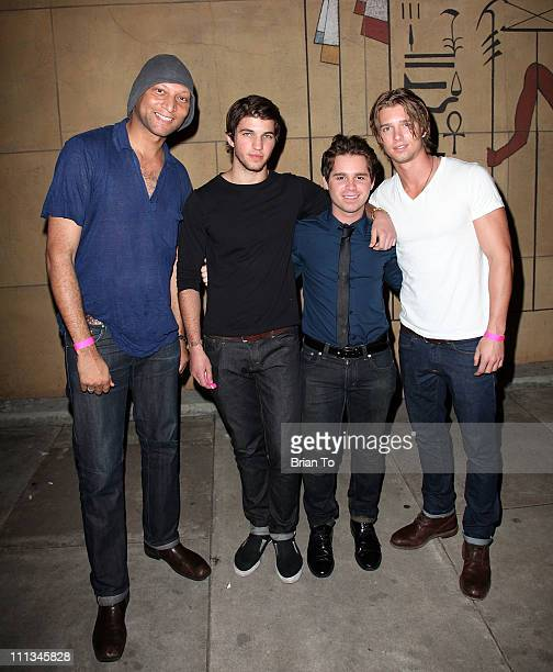 Kevin Todd Ryan Craig Ryan Pinkston and Drew Van Acker attend 'Cougars Inc' Los Angeles premiere after party at the Egyptian Theatre on March 31 2011...