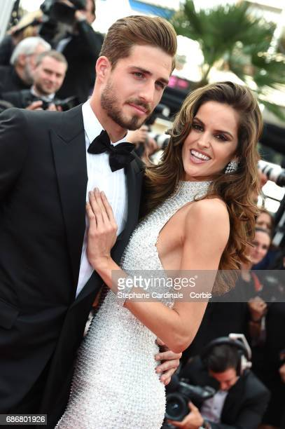 Kevin Trapp and Izabel Goulart attend 'The Killing Of A Sacred Deer' premiere during the 70th annual Cannes Film Festival at Palais des Festivals on...
