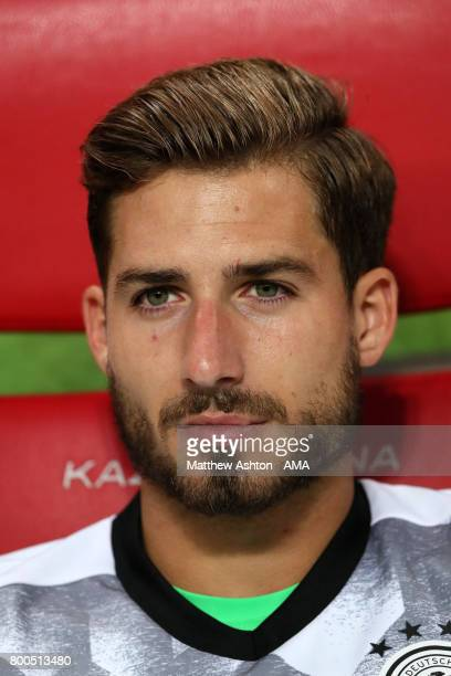 Kevin Trapp of Germany prior to the FIFA Confederations Cup Russia 2017 Group B match between Germany and Chile at Kazan Arena on June 22 2017 in...