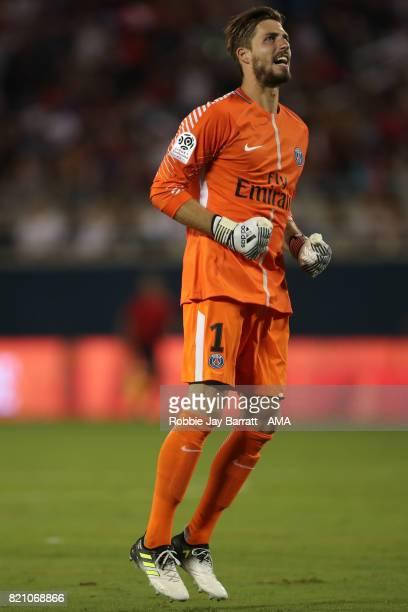 Kevin Trapp of Paris SaintGermain celebrates during the International Champions Cup match between Paris SaintGermain and Tottenham Hotspur on July 22...