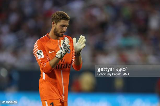 Kevin Trapp of Paris SaintGermain during the International Champions Cup match between Paris SaintGermain and Tottenham Hotspur on July 22 2017 in...