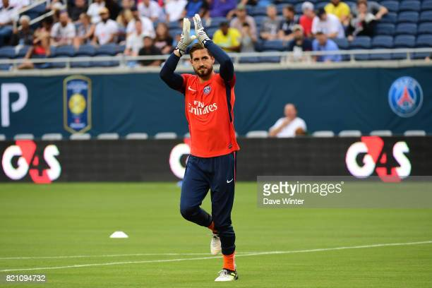 Kevin Trapp of PSG before the International Champions Cup match between Paris Saint Germain and Tottenham Hotspur on July 22 2017 in Orlando United...