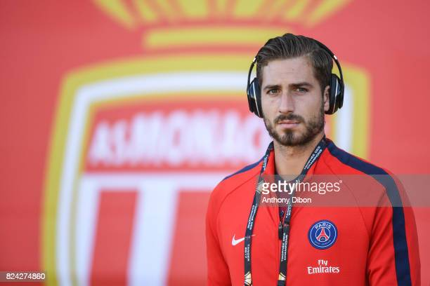Kevin Trapp of PSG during the Champions Trophy match between Monaco and Paris Saint Germain at Stade IbnBatouta on July 29 2017 in Tanger Morocco