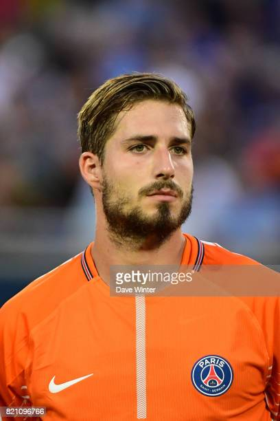 Kevin Trapp of PSG during the International Champions Cup match between Paris Saint Germain and Tottenham Hotspur on July 22 2017 in Orlando United...