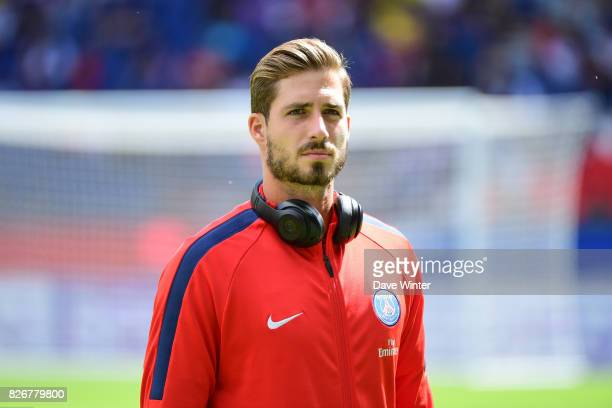 Kevin Trapp of PSG during the Ligue 1 match between Paris Saint Germain and Amiens SC at Parc des Princes on August 5 2017 in Paris France