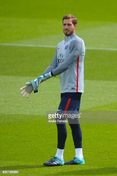 Kevin Trapp of PSG during the training session of Paris Saint Germain on August 11 2017 in Paris France