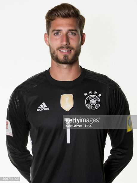 Kevin Trapp poses for a picture during the Germany team portrait session on June 16 2017 in Sochi Russia