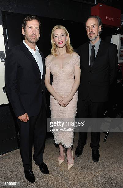 Kevin Ulrich actress Cate Blanchett and Kent Jones Director of Programming New York Film Festival attend the Gala Tribute To Cate Blanchett during...