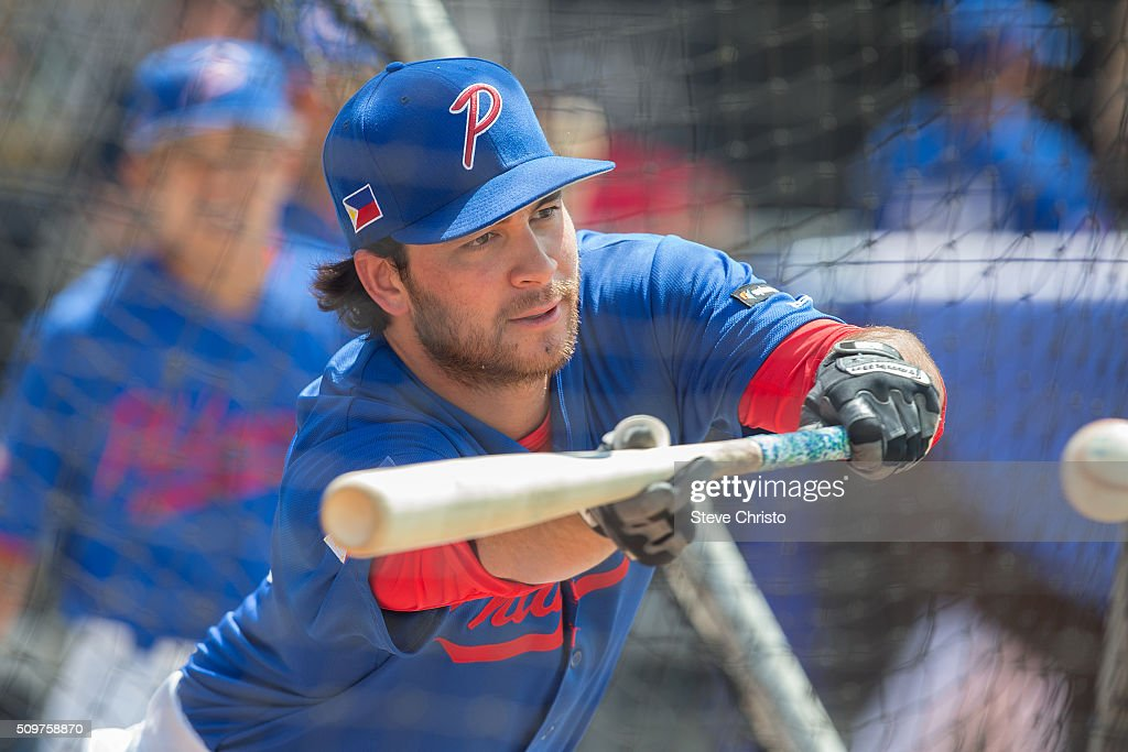 Kevin Vance #10 of Team Philippines takes batting practice before Game 3 of the World Baseball Classic Qualifier against Team New Zealand at Blacktown International Sportspark on Friday, February 12, 2016 in Sydney, Australia.