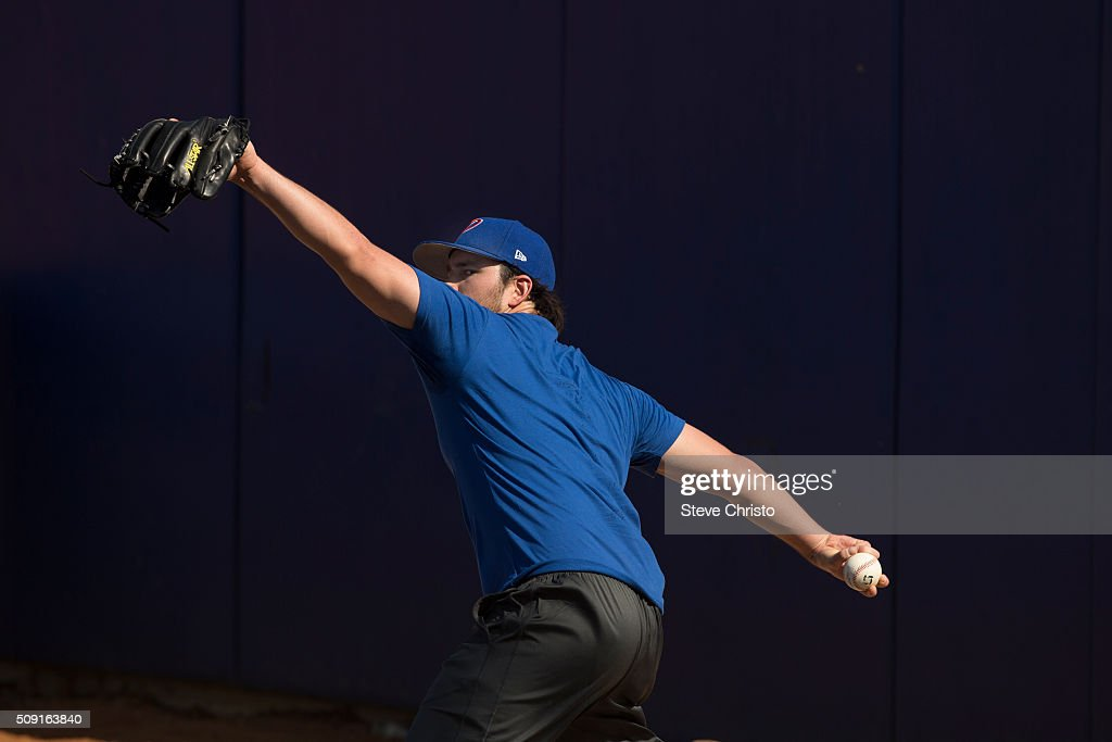 Kevin Vance #10 of Team Philippines throws in the bullpen during the workout for the World Baseball Classic Qualifier at Blacktown International Sportspark on Tuesday, February 9, 2016 in Sydney, Australia.