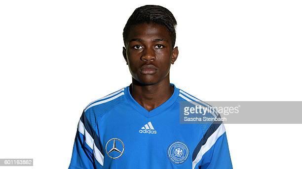 Kevin Vangu Phambu Bukusu poses during the Germany U16 Team Presentation on September 9 2016 in Kamen Germany
