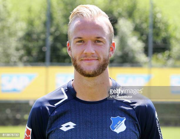 Kevin Vogt from German first division Bundesliga football team TSG 1899 Hoffenheim poses for a photo in Zuzenhausen near Heidelberg Germany on July...