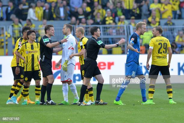 Kevin Vogt of Hoffenheim and Marcel Schmelzer of Dortmund during the Bundesliga match between Borussia Dortmund and TSG 1899 Hoffenheim at Signal...