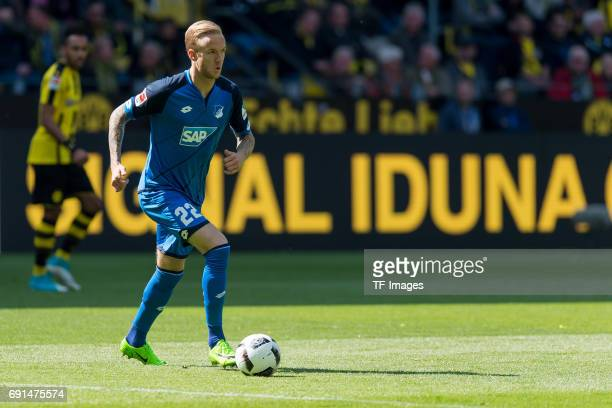 Kevin Vogt of Hoffenheim controls the ball during the Bundesliga match between Borussia Dortmund and TSG 1899 Hoffenheim at Signal Iduna Park on May...
