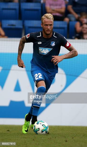Kevin Vogt of Hoffenheim controls the ball during the preseason friendly match between TSG 1899 Hoffenheim and FC Bologna on August 5 2017 in...