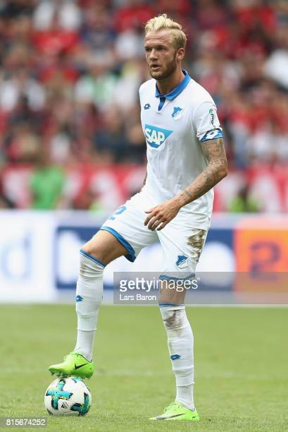Kevin Vogt of Hoffenheim runs with the ball during the Telekom Cup 2017 match between Bayern Muenchen and 1899 Hoffenheim at on July 15 2017 in...