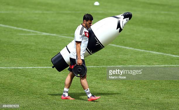 Kevin Volland looks on during the German National team training session at StMartin training ground on May 30 2014 in St Martin in Passeier Italy